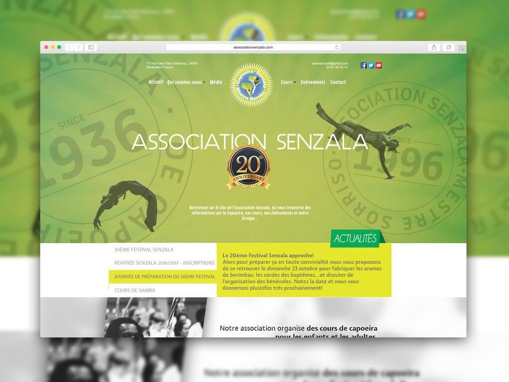 Web Design Association Senzala Capoeira