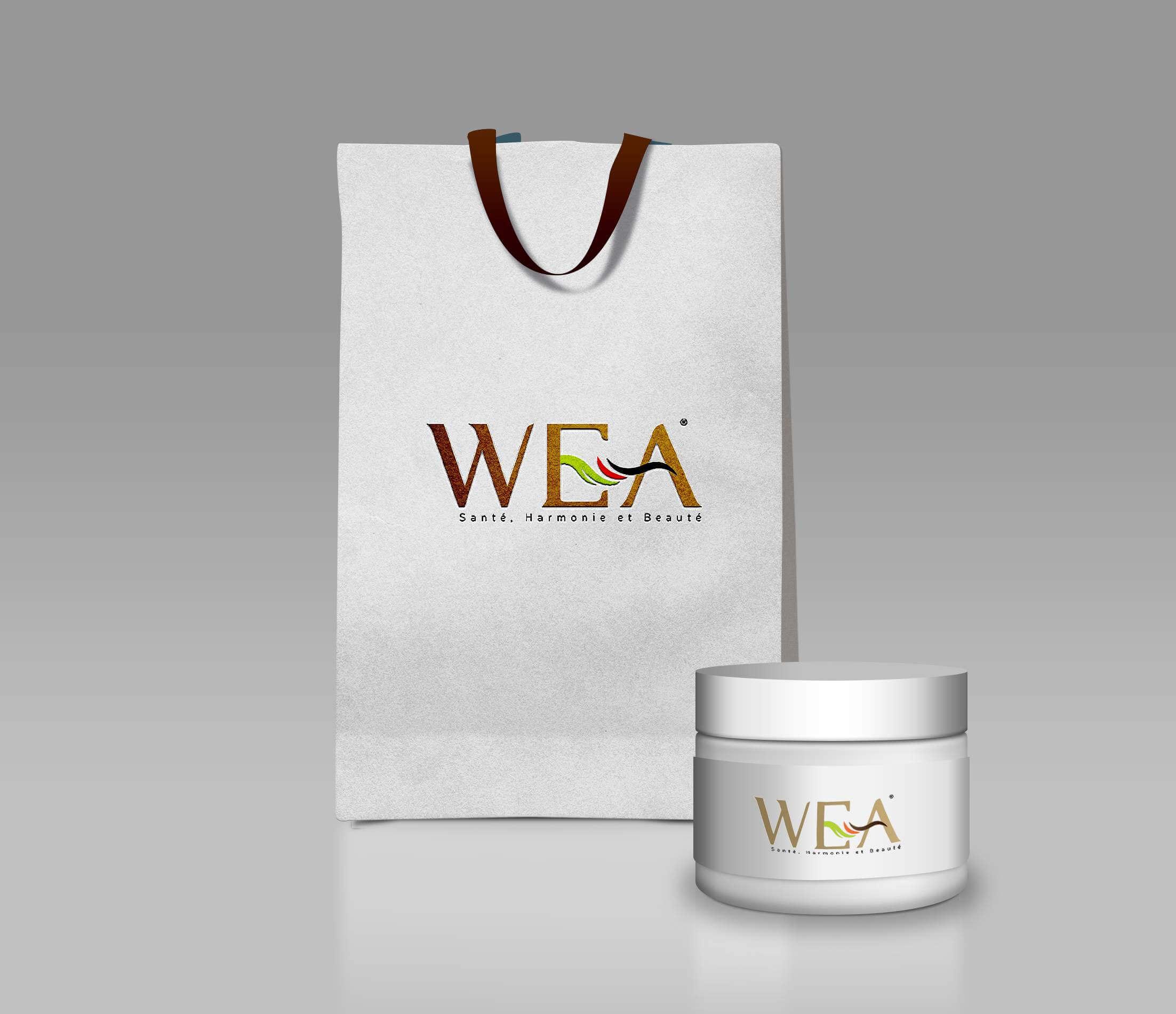 Cosmetic Branding Design Logo WEA Charte Graphique