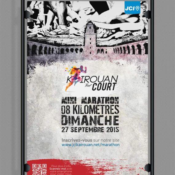 Kairouan Tout Court Design Poster JCI