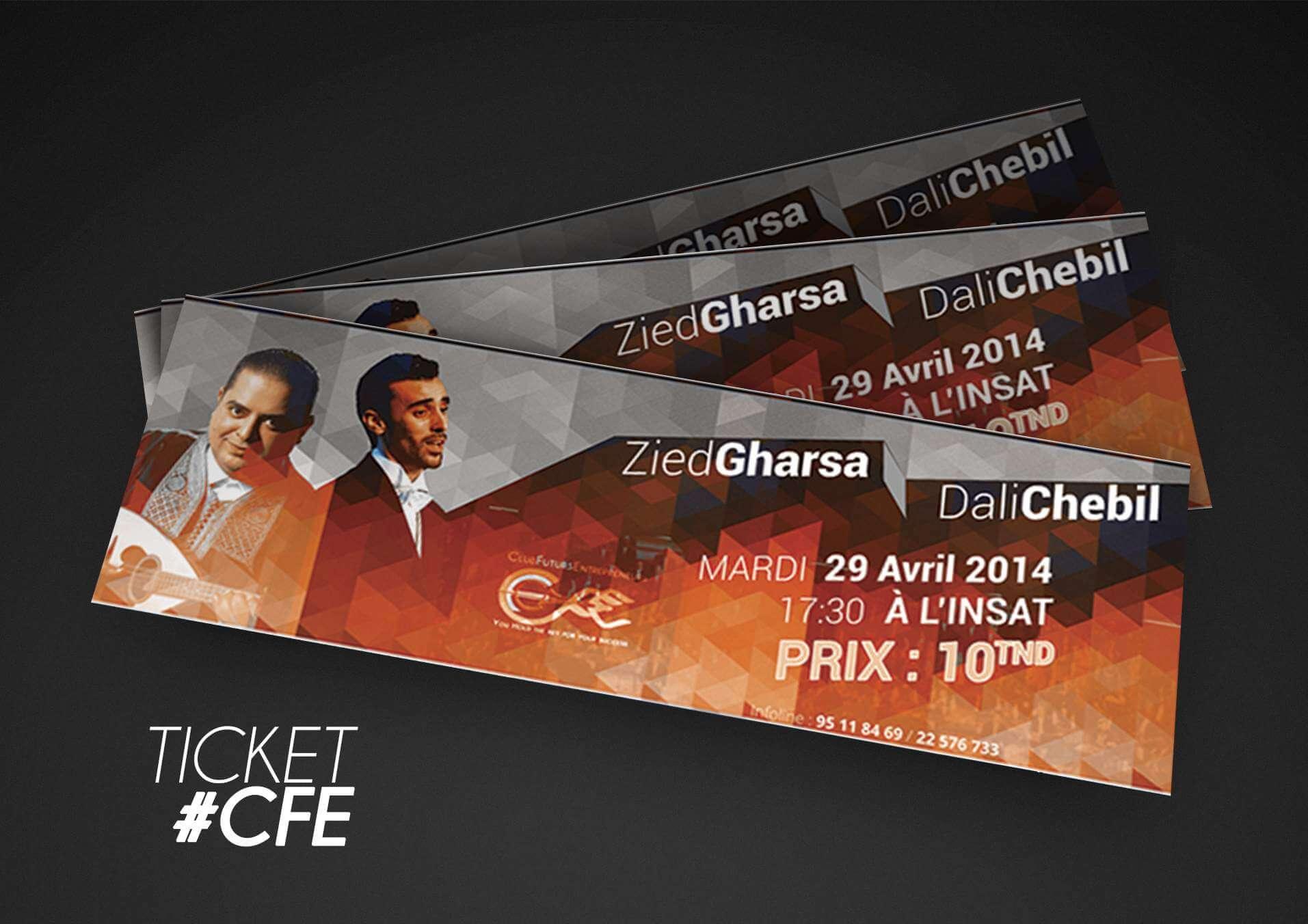 Ticket CFE Design Graphique insat