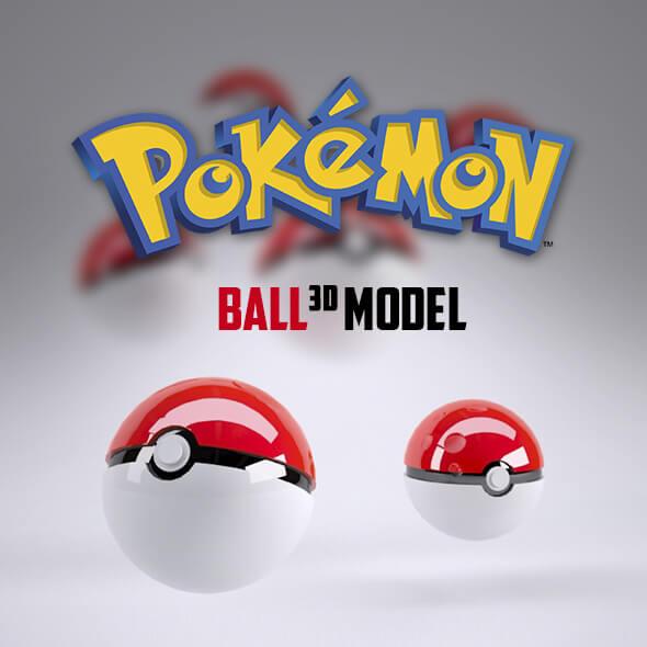 Pokémon 3D Ball Model