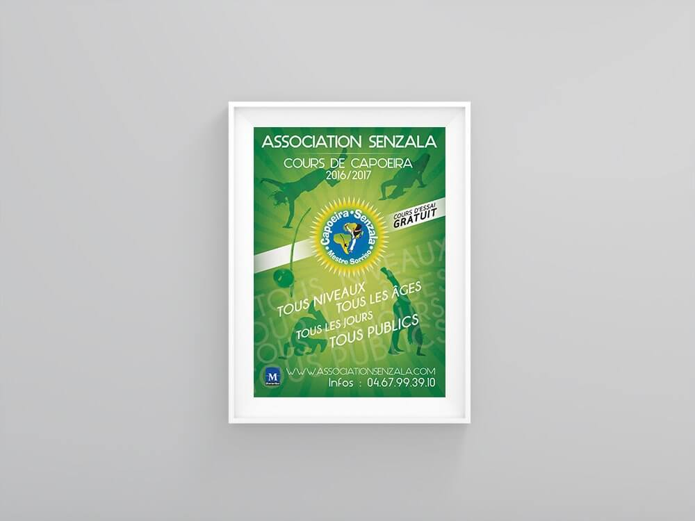 Flyer Design Festival Senzala Capoeira
