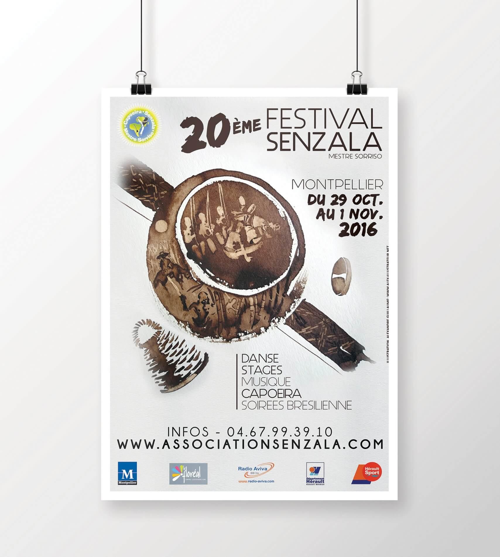 Poster Design Festival Senzala Capoeira