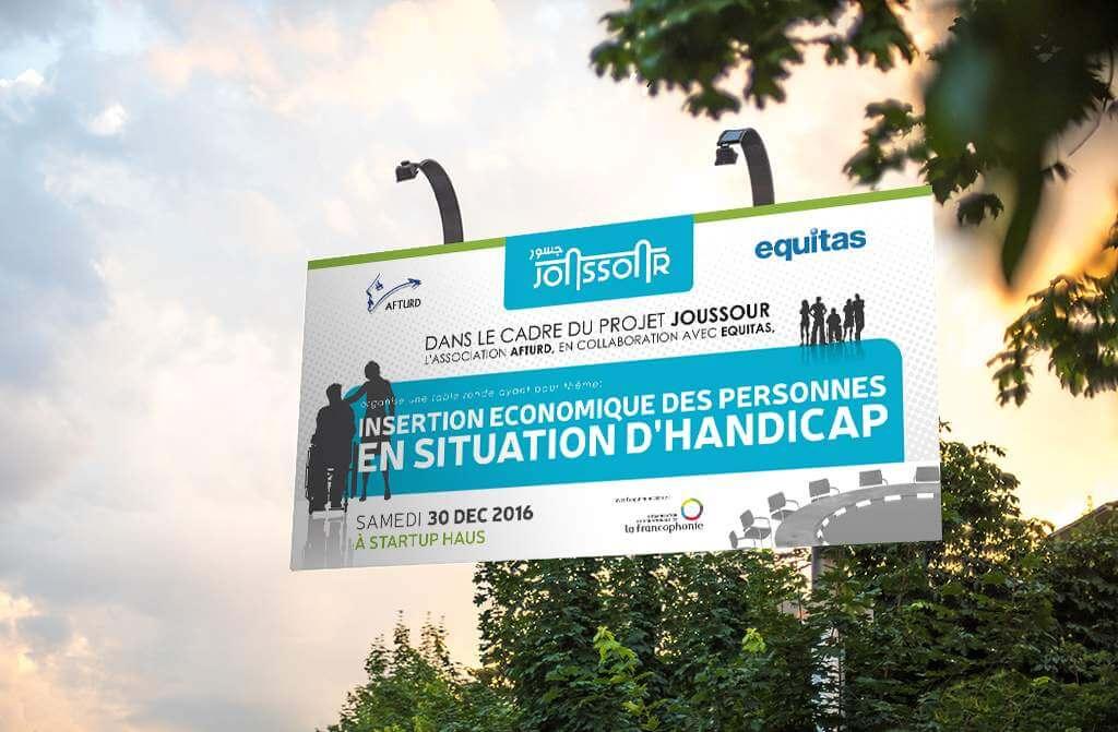Banderole Joussour Event, Equitas, Afturd