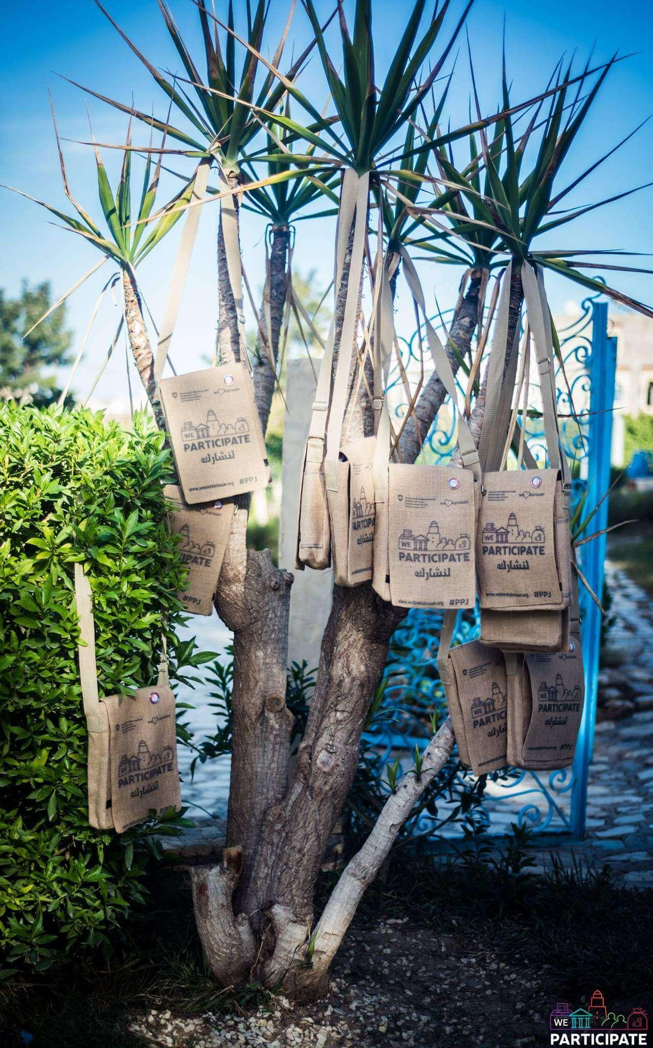 We participate we love kairouan event bag