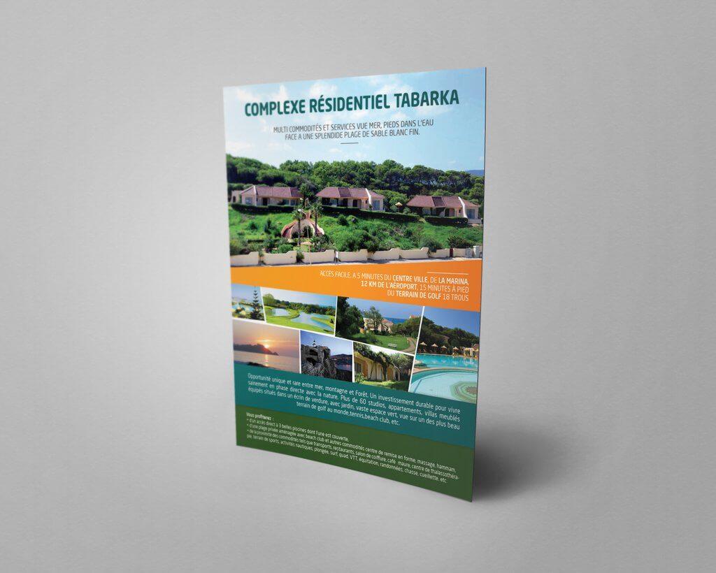 Complexe résidentiel Tabarka Flyer Mockup